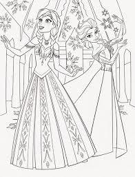 Disney Princess Coloring Pages Frozen Elsa Printable Coloring Page