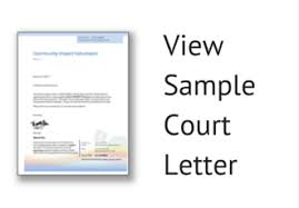 online opportunities for court ordered community service hours sample letter