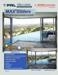 max aluminum sliding glass door complete catalog