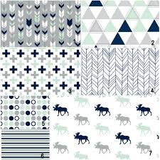 mint and navy moose geometrics custom modern crib bedding s on like these prints use them
