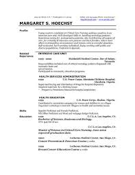 Very Attractive Profile Example For Resume Examples Resumes And Free