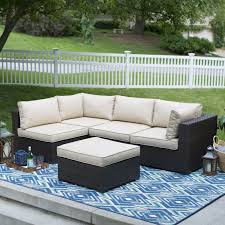 belham living marcella all weather wicker piece sectional fire pit logo patio belham living oliver