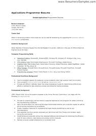 computer programmer resume samples programmer resume example 100 programmers resume description of