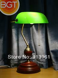 european classical vintage desk lamp green cover bank complex study lamp lights banks of old shanghai