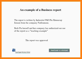 Sample Report Template For Business 18 Report Example For Business Think Down Town Kc