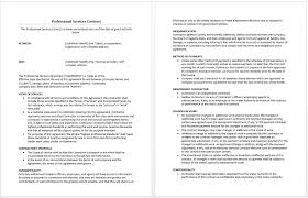 Service Agreement Samples Professional Services Agreement Templates 24 Free Samples