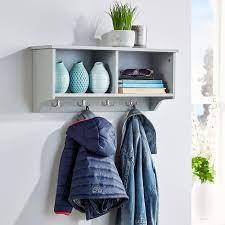 wall mounted coat hook grey big