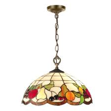 springdale lighting fruit 2 light antique brass hanging pendant