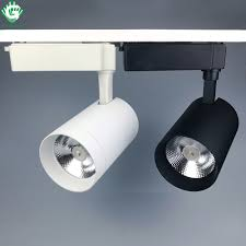 track lighting rail. LED Track Lights 20W 30W Black White Rail Spot Shoe Clothing Shop Store Lighting Spotlight
