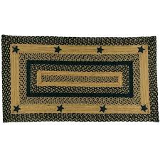 primitive country area rugs braided rectangular black star rug rectangle furniture of america sectional