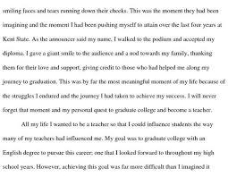 Personal Narrative Essay Example High School High School Personal Narrative Essay Examples For College Sample