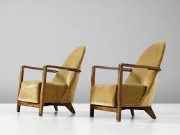 alluring yellow club chair pair of dutch art deco club chairs in yellow upholstery for