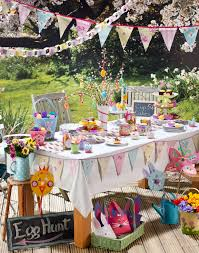 Outdoor Table Decor Easter Party Table Decorations Holidayfood Craftideas