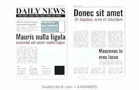 Microsoft Newspaper Article Template Front Page 4 Column Tabloid Article Template Free Newspaper
