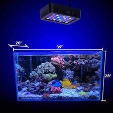 Us 72 99 27 Off Fish Bowl Lighting Pets Illumine Dimming Lamp 140w Reef Aquarium Led Light Aquatic Plants Coral Growth 35