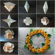 Flower Made By Paper Folding Pin By Arya Mundke On Diys Pinterest Origami Craft And Flowers