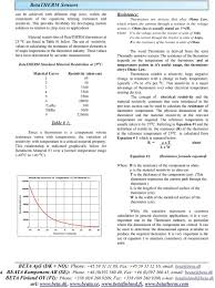 Ntc Thermistor Chart Ntc Thermistor Theory Table Of Contents Pdf Free Download