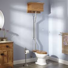 High Tank Pull Chain Toilet Awesome Golden Oak High Tank Pull Chain Water Closet With Elongated