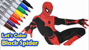 ♘ now, i am going to show you spiderman coloring book video. Spider Man Far From Home Second Action Coloring Pages Sailany Coloring Kids Youtube