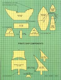 diagram of cardboard pirate ship