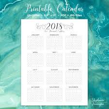 2018 calendar editable calendar printable calendar wall
