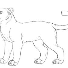 Small Picture Animal Coloring Pages To Print Lioness Coloring Page To Print