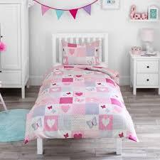 hearts toddler duvet bedding set