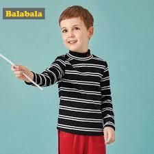 Balabala Mùa Đông Áo Thun Cho Bé Trai Enfant Nửa Cổ Cao Áo Len Tập Đi Trẻ  Em Lưới Dài Cao Cấp Sọc Và Màu Đồng Nhất thời Trang|Áo phông