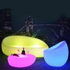 Plastic <b>Led</b> Luminous Bar Stool Color Changing Club Back Rest ...