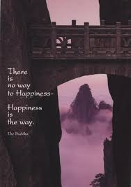 Schöne Postkarte There Is No Way To Happiness Happiness Is The Way