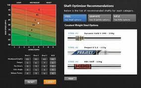 Mizuno Shaft Optimizer Chart Bayonet And Black Horse Fitting Equipment