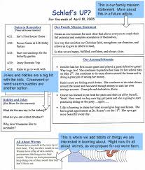 Newsletter Format Examples News Letter Format Magdalene Project Org