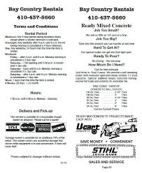 Bay Country Rentals Terms Conditions Bay Country Rentals