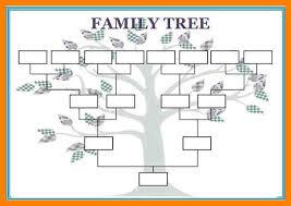 Medical Chart Template Blank Family Tree Free Family Tree