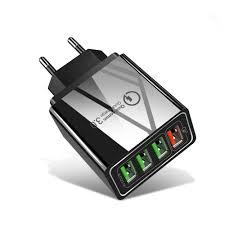 <b>OLAF</b> 3.1A Multiport <b>QC3</b>.<b>0</b> Intelligent Fast Charging EU US UK Plug ...