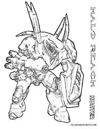 Small Picture Halo Coloring Pages Free anfukco