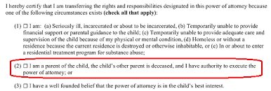 Power Of Attorney For Child Care Free Ohio Power Of Attorney For Minor Child Form