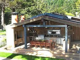 Simple Rustic Outdoor Kitchen
