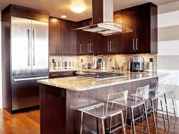 Kitchen Modern Backrest Bar Stools Glass Kitchen Bay Window Wall Mounted  Range Hood Floor To Ceiling · Kitchen Designs For Small Kitchens With  Islands ...