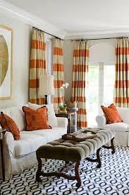 Bold Drapes   Suzie: Janie Molster Designs   Love! Tan Walls Paint Color,  Tan U0026 Orange Stripe Silk Curtains .