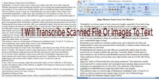 Transcribe Scanned File Or Images To Editable Text By Codergirlpc