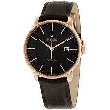 rado coupole classic automatic black dial men s watch r22877165