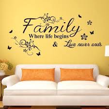 stickers for wall decoration vinyl wall art decal decor e stickers family where life begins for
