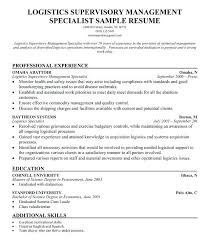 Logistics Management Specialist Resume Sample Best Of Logistics Management Specialist Resume Free Resume Templates