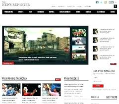 Newspaper Website Template Free Download Free Music Website Template Web Templates Songs Journal