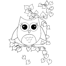 Owl Coloring Pages For Kids Free