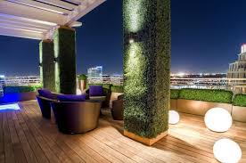 green wall lighting. green wall in house pillar and fence with plants decoration modern lighting dashing outdoor r
