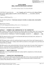 Construction Contract Template Doc Rome Fontanacountryinn Com