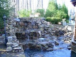 diy waterfall how to build a small waterfall backyard waterfall backyard waterfall kits home depot pond