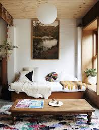 Boho Chic Interior With Plywood Ceiling